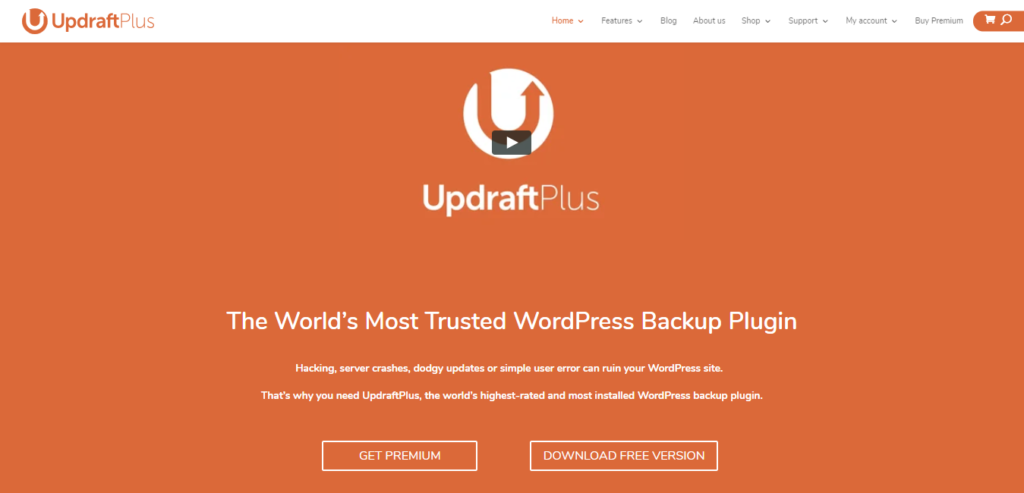 Best WordPress Backup Plugin - UpdraftPlus