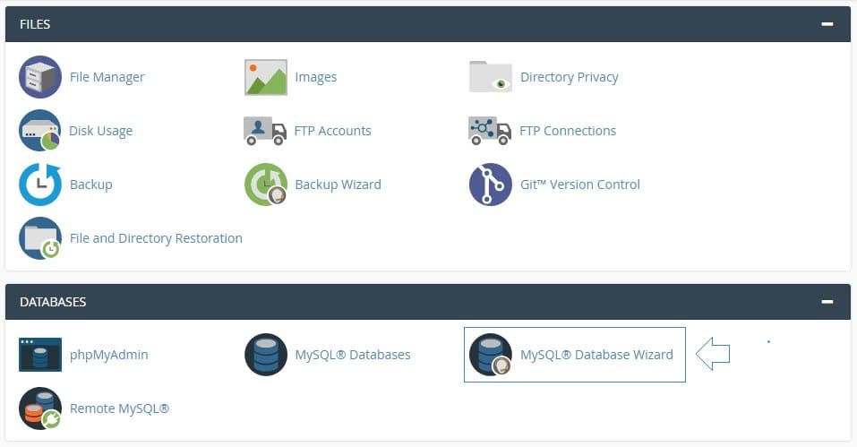 WordPress Setup using cPanel MySQL Database Wizard